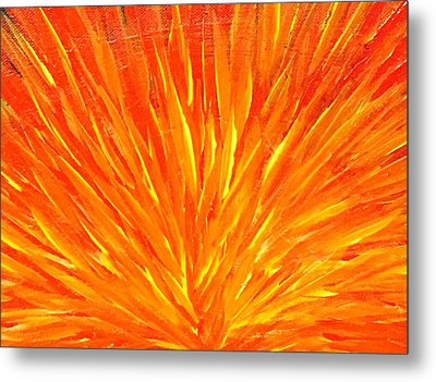 Into The Fire Metal Print