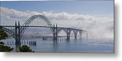 Into The Fog At Newport Metal Print