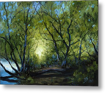 Into The Light Metal Print by Billie Colson