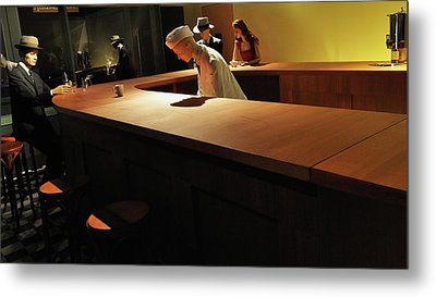 Into The Nighthawks Metal Print by Marcello Valeri