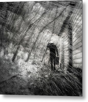 Into The Storm Metal Print by Gray  Artus