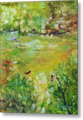 Metal Print featuring the painting Invincible Spring by Judith Rhue