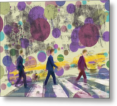 Invisible Men With Balloons Metal Print