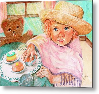 Invitation Only Tea Party Metal Print by Sandra Valentini