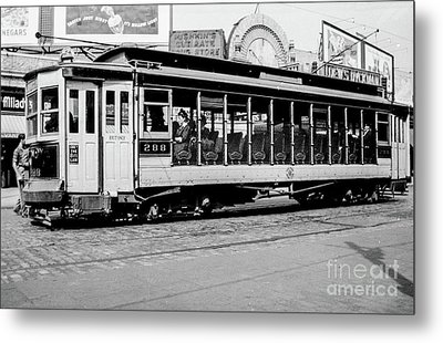 Metal Print featuring the photograph Inwood Crosstown Trolley  by Cole Thompson