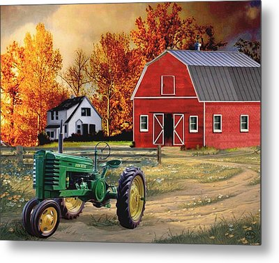 Iowa Farm 2 Metal Print