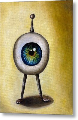 Ira The Little Alien Metal Print by Leah Saulnier The Painting Maniac