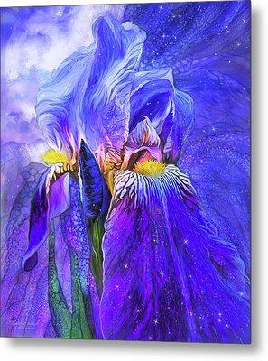 Metal Print featuring the mixed media Iris - Goddess Of Starlight by Carol Cavalaris