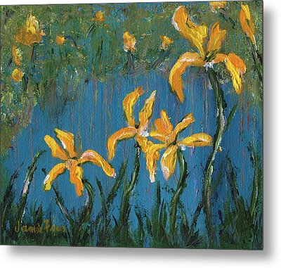 Metal Print featuring the painting Irises by Jamie Frier