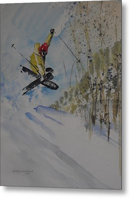 Metal Print featuring the painting Iron Cross At Beaver Creek by Sandra Strohschein
