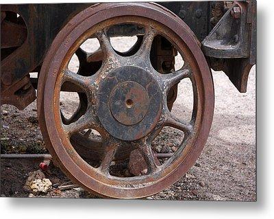 Iron Train Wheel Metal Print by Aidan Moran