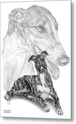 Irresistible - Greyhound Dog Print Metal Print by Kelli Swan