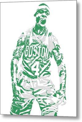 Isaiah Thomas Boston Celtics Pixel Art 16 Metal Print