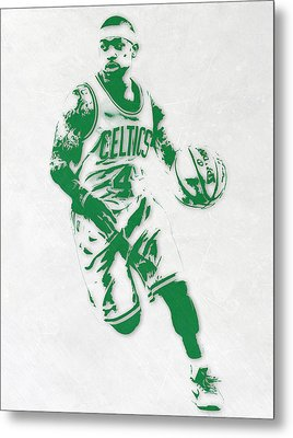 Isaiah Thomas Boston Celtics Pixel Art 2 Metal Print by Joe Hamilton