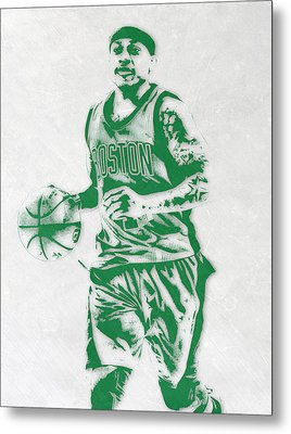 Isaiah Thomas Boston Celtics Pixel Art Metal Print by Joe Hamilton