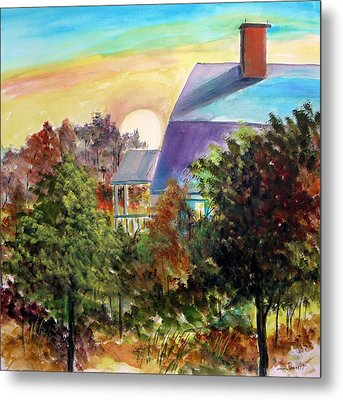 Metal Print featuring the painting Island Morning by John Williams