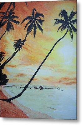 Island Sunset Metal Print by Ken Day