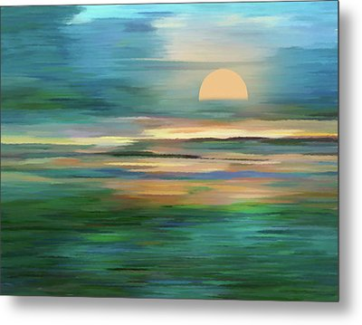 Islands In The Sunset Abstract Realism Metal Print