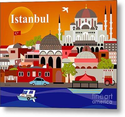 Istanbul Turkey Horizontal Scene Metal Print