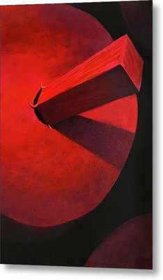 It Can Feel Like You Are A Square Peg Forced Into A Round Hole Metal Print by Charles Wallis