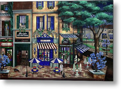 Italian Cafe Metal Print by Curtiss Shaffer