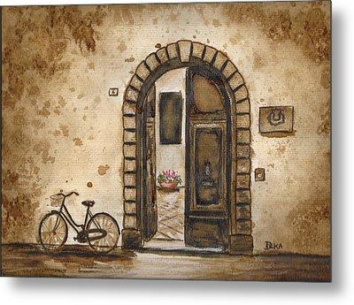 Italian Coffee Break Metal Print by Dianne  Ilka