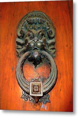 Italian Door Knocker Metal Print by Jen White