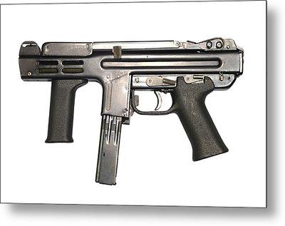 Italian Spectre M4 Submachine Gun Metal Print by Andrew Chittock