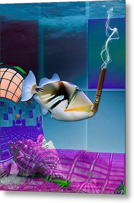 It's A Girl Celebration Saltwater Triggerfish Metal Print