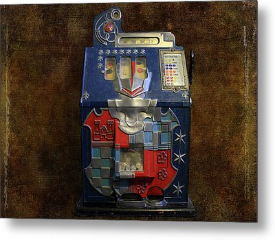 It's Your Dime-1936 Antique Slot Machine Metal Print