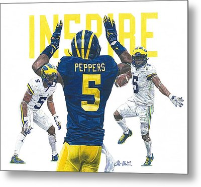 Jabrill Peppers Metal Print by Chris Brown