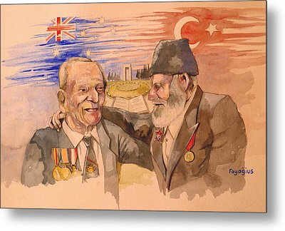 Metal Print featuring the painting Jack Ryan And Hyseyin Kacmaz by Ray Agius