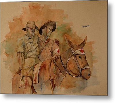 Metal Print featuring the painting Jack Simpson And Duffy by Ray Agius