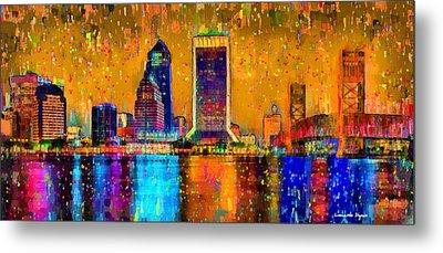 Jacksonville Skyline 104 - Pa Metal Print by Leonardo Digenio