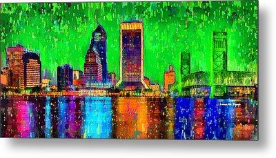 Jacksonville Skyline 106 - Pa Metal Print by Leonardo Digenio