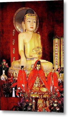 Jade Buddha Jing'an Temple Shanghai Metal Print by Christine Till