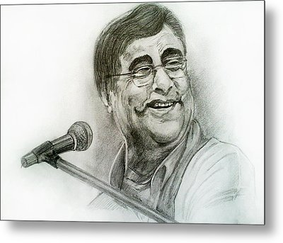 Jagjit Singh Metal Print by Mayur Sharma