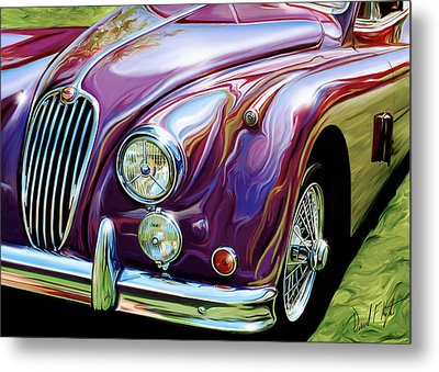 Jaguar 140 Coupe Metal Print by David Kyte
