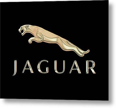 Jaguar Car Emblem Design Metal Print by Walter Colvin