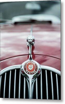 Jaguar Grille Metal Print by Helen Northcott