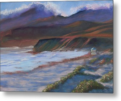 Jalama Beach At Sunset Metal Print by Laurie Paci