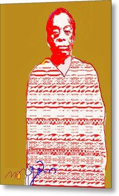 James Baldwin Metal Print by Noredin Morgan
