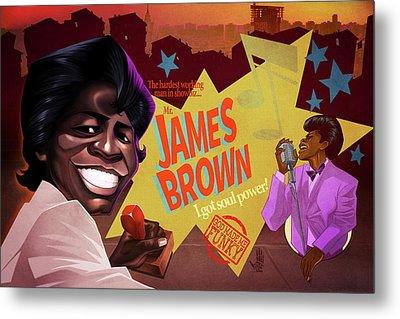 James Brown Metal Print