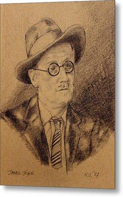 James Joyce Metal Print by John  Nolan