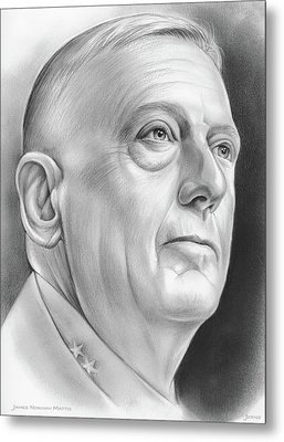 James Norman Mattis Metal Print by Greg Joens