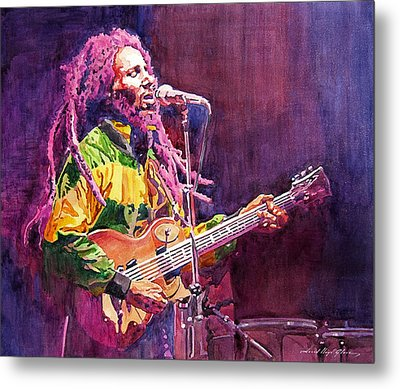 Jammin - Bob Marley Metal Print by David Lloyd Glover