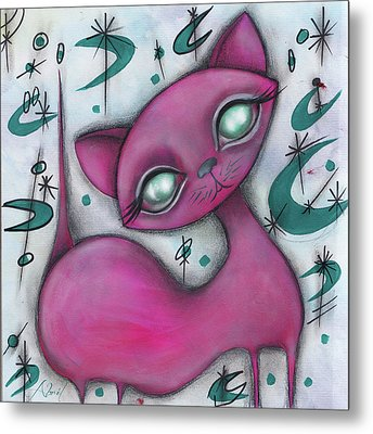 Jane Cat Metal Print by Abril Andrade Griffith