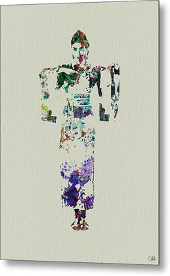 Japanese Dance Metal Print by Naxart Studio