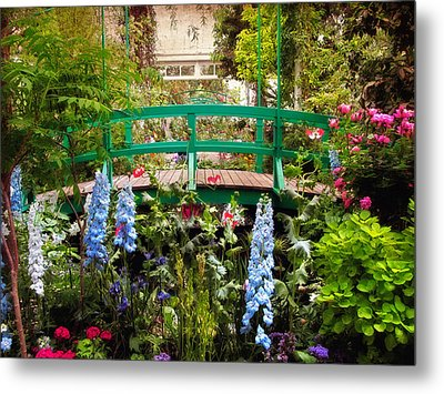 Japanese Footbridge Metal Print by Jessica Jenney