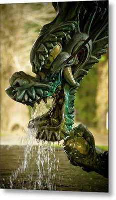 Japanese Water Dragon Metal Print by Sebastian Musial